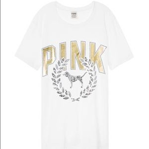 Victoria secret pink tee shirt large
